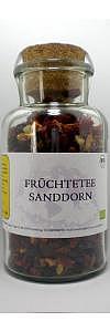 Früchtetee Sanddorn im Korkenglas