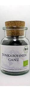 Tonka Bohnen Bio ganz im Korkenglas