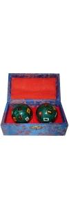 Qigong Kugeln Farbenspiel emailliert