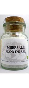 Meersalz Flor de Sal im Korkenglas