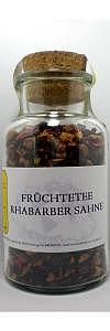 Früchtetee Rhabarber Sahne im Korkenglas