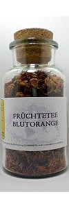 Früchtetee Blutorange im Korkenglas